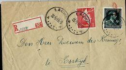 Doc. De LAUWE - A A - Du 26/05/53  En Rec. - Postmark Collection
