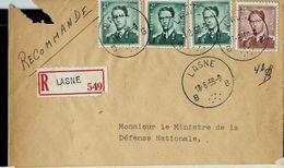 Doc. De LASNE - B B - Du 13/06/59  En Rec. - Postmark Collection