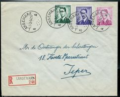 Doc. De LANGEMARK - A A - Du 23/03/64  En Rec. - Postmark Collection