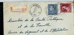 Doc. De LA ROCHE - EN - ARDENNE - C -  Le 12/10/51  En Rec. - Postmark Collection