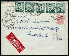 Doc. De LANAKEN - C C - Du 24/11/62  Par EXPRES - Postmark Collection