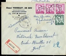 Doc. De LANDEGEM - B B - Du 18/12/62 En Rec. - Postmark Collection