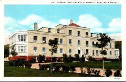 Wyoming Rawlins Carbon County Memorial Hospital Curteich - Etats-Unis