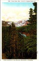 Wyoming Cloud Peak Highest Peak And Landmark Of The Big Horn Mountains Curteich - Etats-Unis