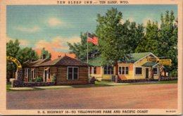Wyoming Ten Sleep The Sleep Inn U S Highway 16 1952 Curteich - Etats-Unis