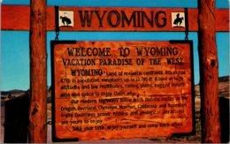 Wyoming Welcome Sign - Etats-Unis