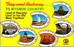 Wyoming Multi View They Went Thataway - Etats-Unis