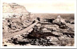 Wyoming Hiway No 40 Through Cedar Pass Real Photo - Etats-Unis