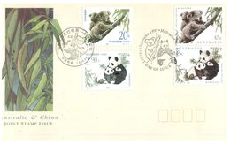 (B 22) Australia / China  - FDC Cover - 1995 - Joint Issue (4 Covers) - Ersttagsbelege (FDC)