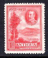 ANTIGUA - 1932 KGV DEFINITIVE 1d SCARLET STAMP FINE MOUNTED MINT * SG 81 REF C - 1858-1960 Colonie Britannique