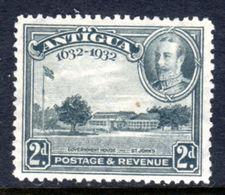 ANTIGUA - 1932 KGV DEFINITIVE 2d GREY STAMP FINE MOUNTED MINT MM * SG 84 REF C - 1858-1960 Colonie Britannique