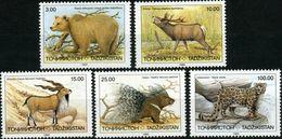 Tajikistan 1993 MiNr. 22 - 26  Tadschikistan Animals  Fauna Mammals Cats Bears Leopard 5v MNH** 5.50 € - Tadjikistan