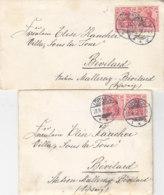 2 Briefe Mit Inhalt Aus LÖRRACH 23.8.10+23.11.10 Nach Station Malleray-Bévilard / Schweiz - Allemagne