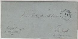 Brief Mit K1 Aus LEER BAHNHOF 4.9.69 - Norddeutscher Postbezirk (Confederazione Germ. Del Nord)
