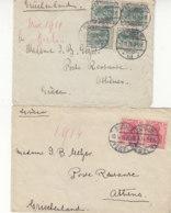 2 Briefe Aus BERLIN 7.11.11+10.?.14 Postlagernd Nach Athen / Griechenland - Brieven En Documenten