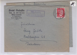 LANDPOST OBERLOMNA über JABLUNKAU (Oberschlesien) 1.11.43+21.10.43 - Germania