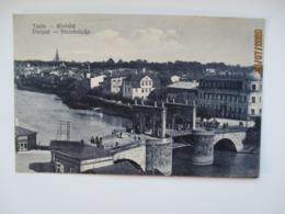 ESTONIA TARTU KIVISILD STONE BRIDGE   , OLD POSTCARD   , O - Ponts