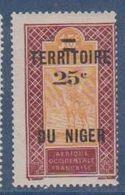 NIGER      N°  YVERT  :  18  NEUF AVEC CHARNIERES      ( CHARN  03/ 40 ) - Unused Stamps