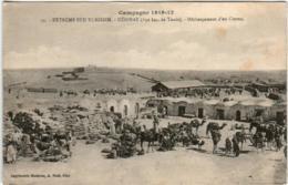 31rr 818 CPA - CAMPAGNE 1915-17 EXTREME SUD TUNISIEN - DEHIBAT  DECHARGEMENT D' UN CONVOI - Tunisie