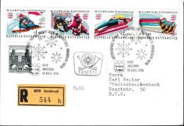 Austria FDC 1976 Innsbruck Olympic Games - Registered Innsbruck (G102-58) - Winter 1976: Innsbruck