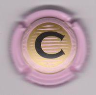 Capsule Champagne CHRISTOPHE ( Nr ; Contour Rose , Centre Or Foncé ) {S28-20} - Champagne