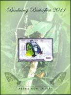 PAPUA NEW GUINEA 2011 BUTTERFLIES S/S** (MNH) - Papillons