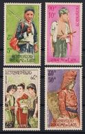 Laos 1964 147 – 150 Laotian Ethnic Groups Postfrisch - Laos