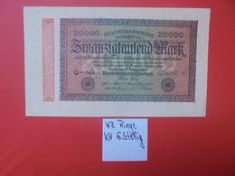 Reichsbanknote 20.000 MARK 1923 5 CHIFFRES+ETOILE CIRCULER (B.16) - [ 3] 1918-1933 : República De Weimar