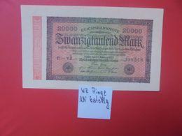 Reichsbanknote 20.000 MARK 1923 6 CHIFFRES CIRCULER (B.16) - [ 3] 1918-1933 : República De Weimar