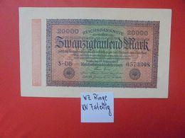 Reichsbanknote 20.000 MARK 1923 7 CHIFFRES CIRCULER (B.16) - [ 3] 1918-1933 : República De Weimar
