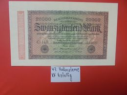 Reichsbanknote 20.000 MARK 1923 VARIANTE 6 CHIFFRES CIRCULER (B.16) - [ 3] 1918-1933 : República De Weimar