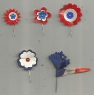 JC ,insigne , épinglette , Journée Commémorative , Bleuets De France... LOT DE 5 EPINGLETTES - Abzeichen & Ordensbänder