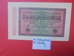 Reichsbanknote 20.000 MARK 1923 VARIANTE 7 CHIFFRES CIRCULER (B.16) - [ 3] 1918-1933 : República De Weimar