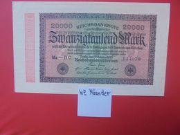 Reichsbanknote 20.000 MARK 1923 VARIANTE MÄANDER CIRCULER (B.16) - [ 3] 1918-1933 : República De Weimar
