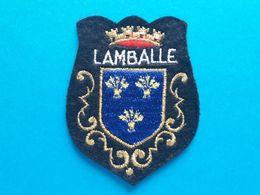 Ecusson Ville De LAMBALLE - Ecussons Tissu