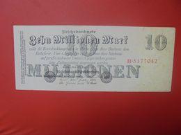 Reichsbanknote 10 MILLIONEN MARK 1923 CIRCULER (B.16) - [ 3] 1918-1933: Weimarrepubliek