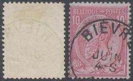 """émission 1884 - N°46 Obl Simple Cercle """"Bièvre"""" - 1884-1891 Leopoldo II"""