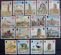 MAN -- IVERT 98/114 NUEVOS ** SIN FIJASELLOS - SERIE BASICA - VISTAS DE LA ISLA - Isle Of Man