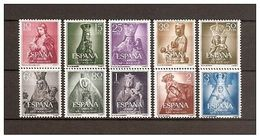 ESPAÑA 1954. AÑO MARIANO. EDIFIL 1132/1141 -SIN FIJASELLO- NUEVO** MNH -BONITA - 1931-Aujourd'hui: II. République - ....Juan Carlos I