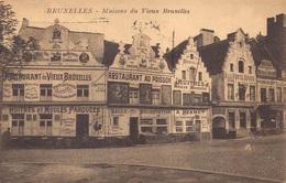 Brussel Bruxelles  Maisons Du Vieux Bruxelles Restaurant  Prachtige Kaart  M 3958 - Places, Squares