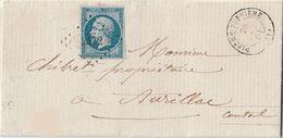 PETITS CHIFFRES - HAUTE VIENNE - PIERRE BUFFIERE - PC 2432 SUR LETTRE - 1849-1876: Periodo Classico