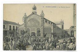 CPA ALGERIE MAISON-CARREE LE MARCHE COUVERT - Argelia