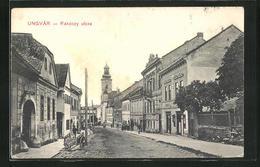AK Ungvár, Rákóczy Utcza, Strassenpartie Im Zentrum - Ukraine