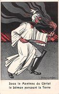 Sous Le Manteau Du Christ Le Démon Parcourt La Terre - Il. Pierre Chatillon - Guillaume II - Guerre 1914-1918 - Humour