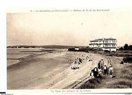 Ile De Noirmoutier. La Gueriniere En Noirmoutiers, La Plage Des Enfants De La Colonie De Notre Dame De Bon Secours. - Ile De Noirmoutier