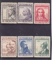 # E.12246 Austria 1934 Full Set MNH, Michel 591 - 566: Austrian Builders - Nuevos