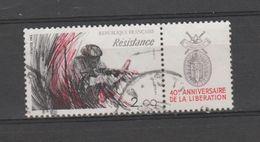 """FRANCE / 1984 / Y&T N° 2312 : Du Dyptique """"Libération"""" (TP Résistance Avec Vignette) - Choisi - Cachet Rond - France"""