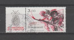 """FRANCE / 1984 / Y&T N° 2313 : Du Dyptique """"Libération"""" (TP Débarquements Avec Vignette) - Choisi - Cachet Rond - France"""
