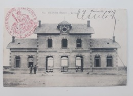 Cpa Oujda La Gare.1913, Intendance Militaire - Sin Clasificación