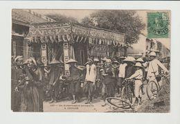 VIETNAM  / CPA / ENTERREMENT ANNAMITE A CHOLON / 1907 - Vietnam